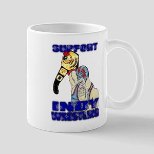 Support Indy Wrestling Mug