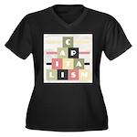 Capitalism Women's Plus Size V-Neck Dark T-Shirt