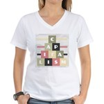 Capitalism Women's V-Neck T-Shirt