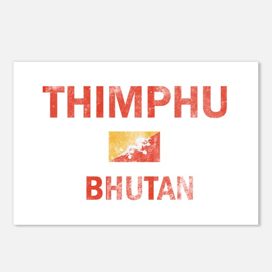 Thimphu Bhutan Designs Postcards (Package of 8)