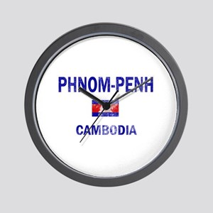 Phnom penh Cambodia Designs Wall Clock