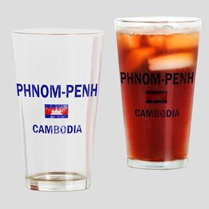 Phnom penh Cambodia Designs Drinking Glass