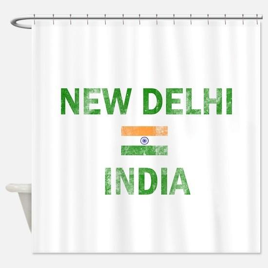 New Delhi India Designs Shower Curtain