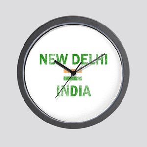 New Delhi India Designs Wall Clock