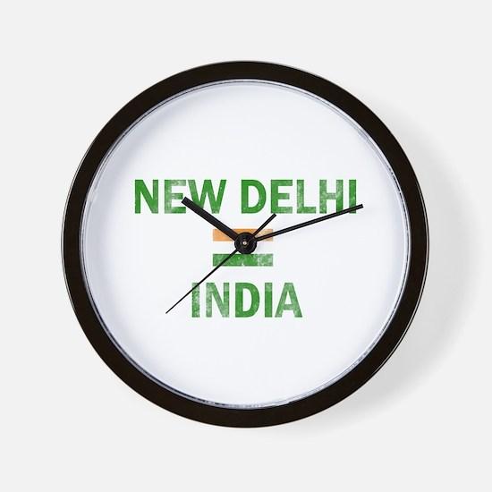 New Delhi India Designs Wall Clock