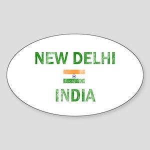 New Delhi India Designs Sticker (Oval)