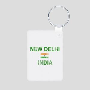 New Delhi India Designs Aluminum Photo Keychain