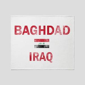Baghdad Iraq Designs Throw Blanket