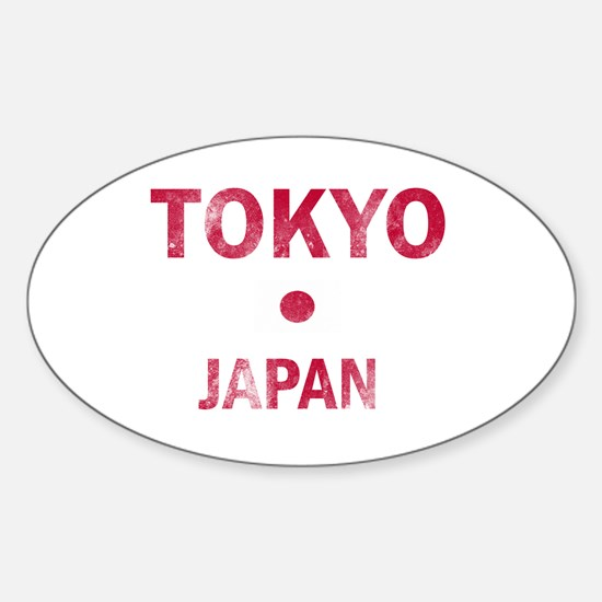 Tokyo Japan Designs Sticker (Oval)