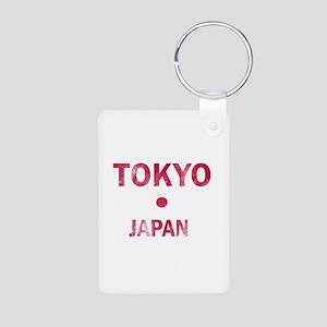 Tokyo Japan Designs Aluminum Photo Keychain