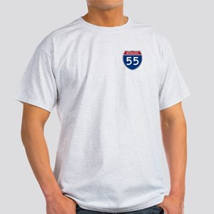 I-55 Highway Ash Grey T-Shirt