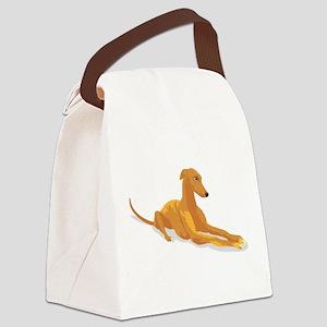 greyhound drawing Canvas Lunch Bag