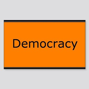 Democracy Sticker (Rectangle)