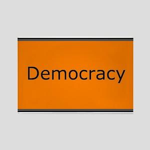 Democracy Rectangle Magnet