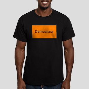 Democracy Men's Fitted T-Shirt (dark)