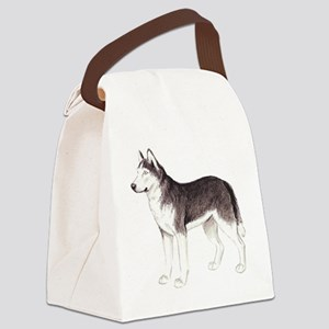 dover husky2 Canvas Lunch Bag