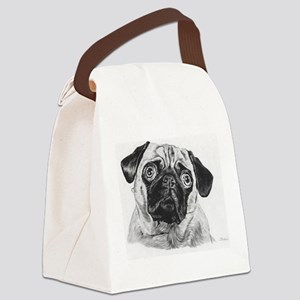 Pug Drawing Canvas Lunch Bag