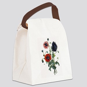 poppies-14x10-300px Canvas Lunch Bag