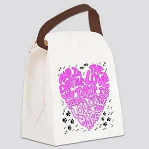 Love you make Canvas Lunch Bag