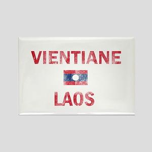 Vientiane Laos Designs Rectangle Magnet