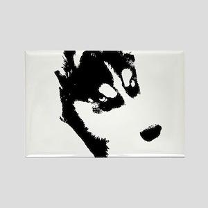 Siberian Husky Rectangle Magnet