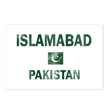 Islamabad Pakistan Designs Postcards (Package of 8