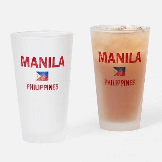 Manila Philippines Designs Drinking Glass