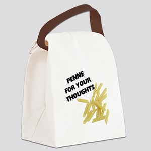 FIN-penne-thoughts Canvas Lunch Bag
