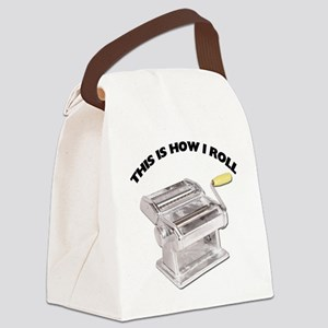 FIN-pasta-how-i-roll Canvas Lunch Bag