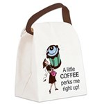 FIN-coffee-perks-me-up Canvas Lunch Bag