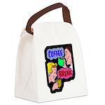 FIN-coffee-break-retro Canvas Lunch Bag