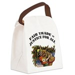 FIN-fair-trade-justice Canvas Lunch Bag