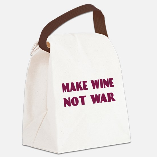 FIN-make-wine-war-4LINES.png Canvas Lunch Bag