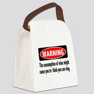 FIN-warning-wine-sing Canvas Lunch Bag
