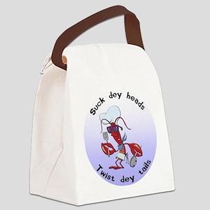 FIN-suck-heads-twist-tails Canvas Lunch Bag