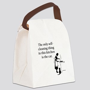 FIN-kitchen-cat Canvas Lunch Bag