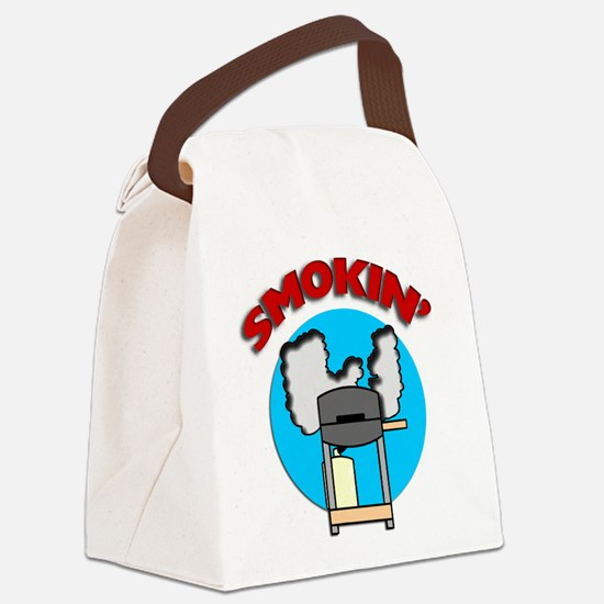 FIN-smokin-barbecue.png Canvas Lunch Bag