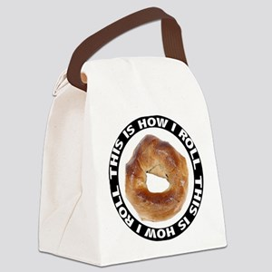 FIN-bagel-how-i-roll Canvas Lunch Bag