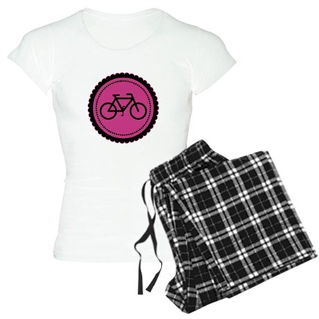 Cute Hot Pink and Black Bicycle Women's Light Paja