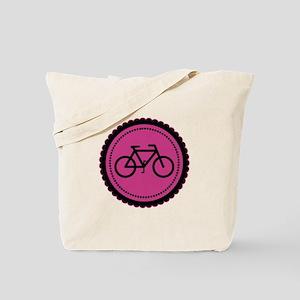 Cute Hot Pink and Black Bicycle Tote Bag