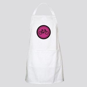 Cute Hot Pink and Black Bicycle Apron