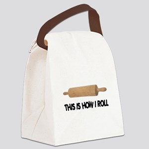 FIN-how-i-rolling-pin Canvas Lunch Bag