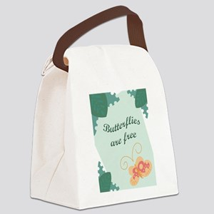 FIN-butterflies-are-free Canvas Lunch Bag