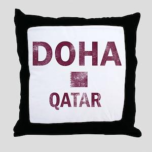 Doha Qatar Designs Throw Pillow