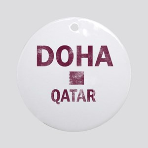 Doha Qatar Designs Ornament (Round)