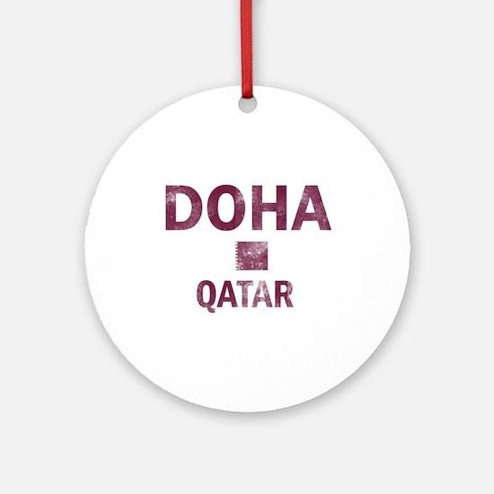 Doha Qatar Designs Ornament (Round)