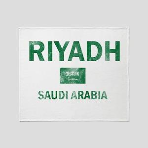 Riyadh Saudi Arabia Designs Throw Blanket