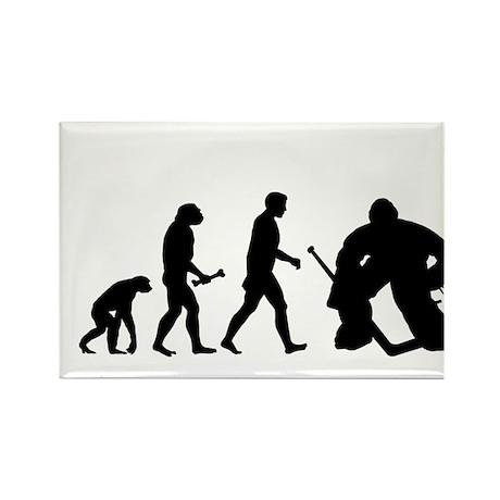 Hockey Goalie Evolution Rectangle Magnet (100 pack