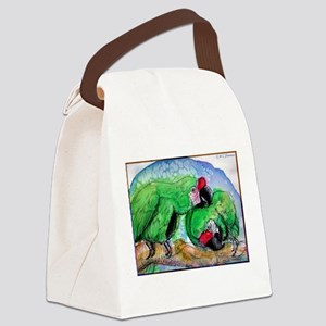 Parrots! Bird pair, art! Canvas Lunch Bag
