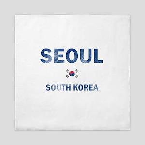 Seoul South Korea Designs Queen Duvet